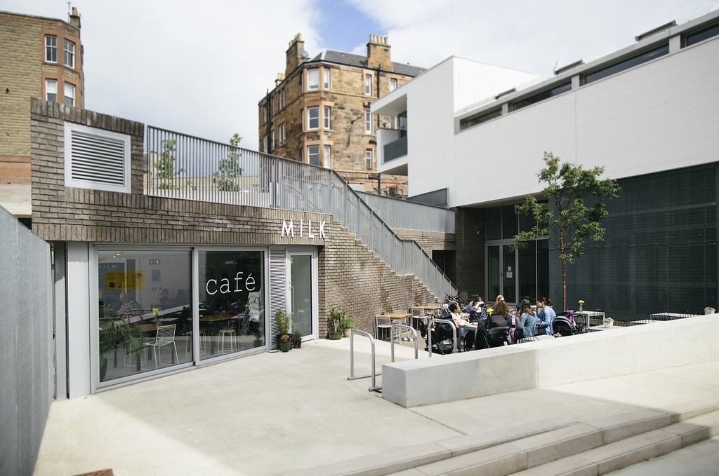 Cafe Milk in Leith, Edinburgh